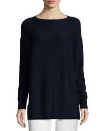 Rib-Stitched Cashmere Sweater
