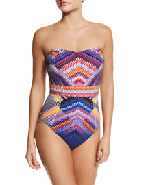 Vince Bandeau One-Piece Swimsuit
