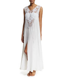 Lana Crocheted Maxi Coverup Dress