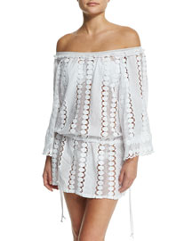 Tabitha Off-the-Shoulder Lace Coverup