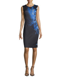 Gwenyth Sleeveless Printed Sheath Dress