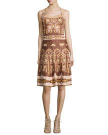 Lurex� Embroidered Jacquard Dress