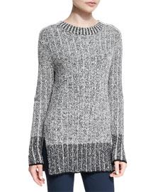 Callista Ribbed Crewneck Sweater