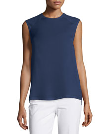 Roliet Sleeveless Silk Top