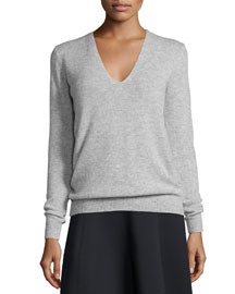 Adrianna Cashmere V-Neck Sweater