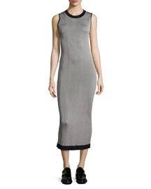Lelia Sleeveless Body-Conscious Midi Dress