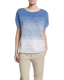 Textured Ombre Cocoon Sweater