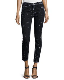 The Stiletto Skinny Cropped Jeans, Trucker