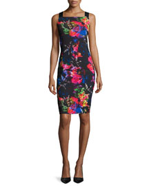 Lou Lou Sleeveless Printed Sheath Dress