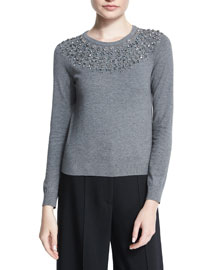 Luxe Jeweled Pullover Top