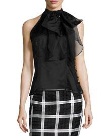 Gwyneth Silk Organza Halter Top