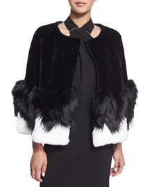 Short Mixed-Fur Jacket