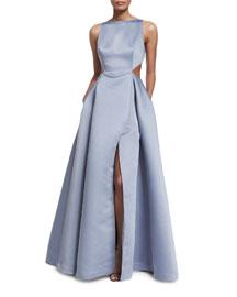 Sleeveless Structured Full-Skirt Gown