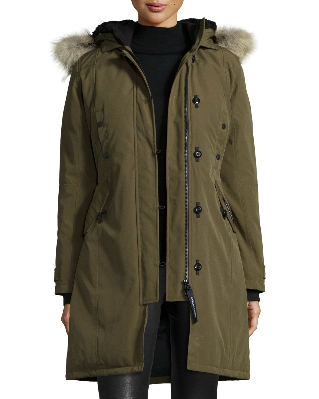 Canada Goose Kensington Fur-Hood Parka, Size: M, Military 49