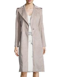 Long Slim Ultrasuede� Coat
