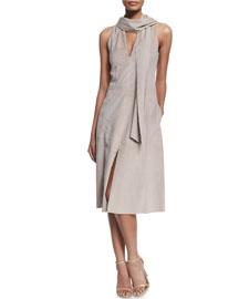 Sleeveless Ultrasuede� Dress W/ Scarf