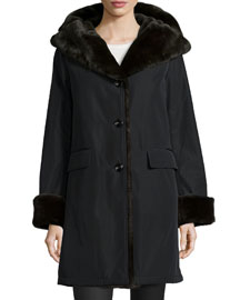 Faux-Fur-Lined Coat