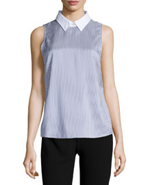 Marbie Amana Striped Sleeveless Top