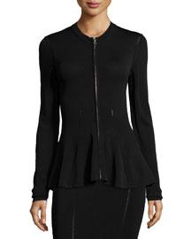 Ergonomic Zip-Front Flash Jacket, Black