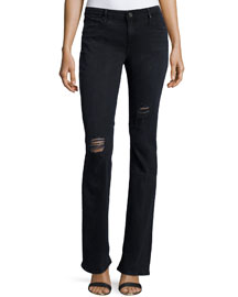 Jackson Distressed Boot-Cut Jeans, Blue