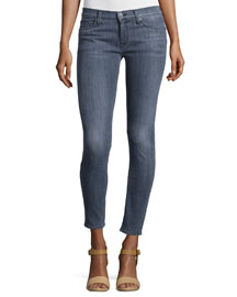 Krista Electrostatic Skinny Ankle Jeans, Gray