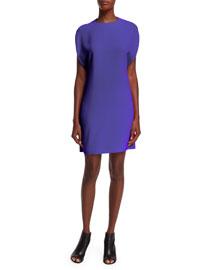 Pullover Cape Dress, Violet
