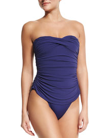 Walter Mio Ruched One-Piece Swimsuit, Midnight