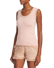 Scoop-Neck Star-Stitch Tank