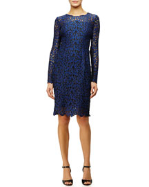 Bellamy Long-Sleeve Crochet Lace Dress