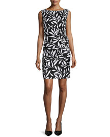 Della Bamboo Twig Sheath Dress