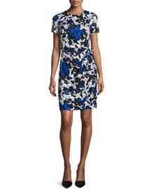 Zoe Short-Sleeve Floral & Polka-Dot Dress