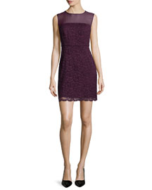 Nisha Sleeveless Lace Dress, Purple