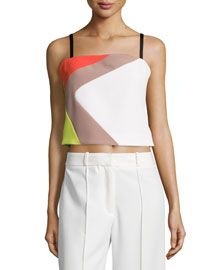 Cropped Cady Colorblock Tank