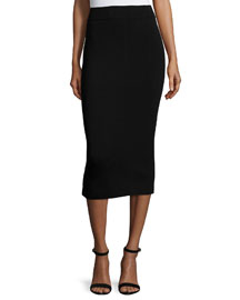 Fitted Midi Pencil Skirt