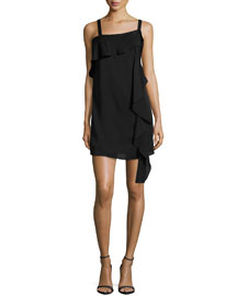 Maya Sleeveless Shift Dress W/ Ruffles