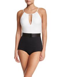 Elizabeth High-Neck One-Piece Swimsuit
