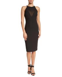 Karina Sleeveless Fitted Dress, Black