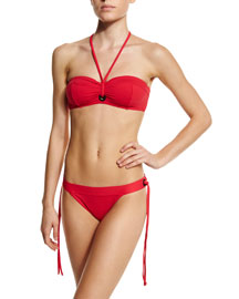 Tie-Front Two-Piece Swimsuit