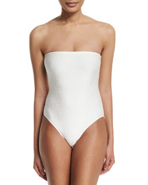Rafia Bandeau One-Piece Swimsuit