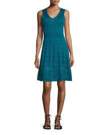 V-Neck Knit Tank Dress