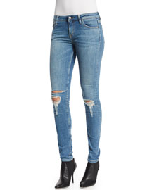 Nikky Distressed Denim Jeans, Blue