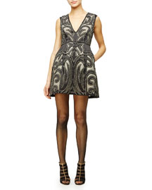 Pacey Sleeveless Patterned Cocktail Dress