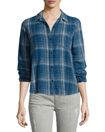 The Workwear Slim Boy Shirt, Abbot Plaid
