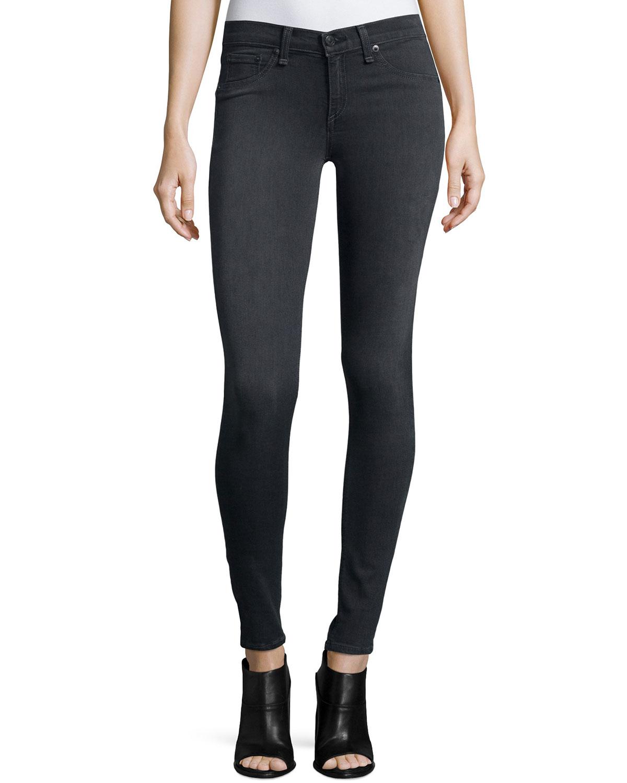 rag & bone/JEAN Premiere Legging Jeans, Gray, Size: 28