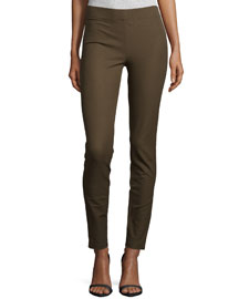 Stretch Legging Pants, Taupe