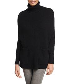 Cashmere Cape Sweater, Black