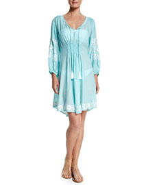 Royal Hawaiian Embroidered-Trim Sun Dress