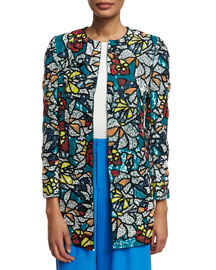Rory Sequined Coat, Multicolor