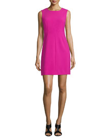 Carrie Sleeveless Sheath Dress, Hot Orchid