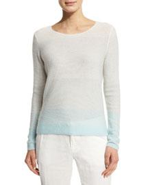 Orfilia Ombre Cashmere Sweater, Fog Ombre